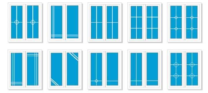 Пластиковые окна с раскладкой: декоративные фальшпереплёты, шпросы, виды, установка