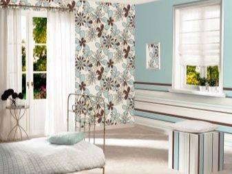 Как подобрать обои двух цветов в зал: фото и нюансы комбинирования