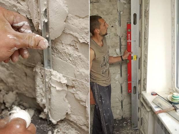 Установка маяков для штукатурки стен своими руками: технология