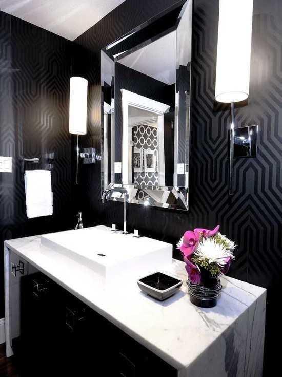 Обои для ванной комнаты (45 фото): основные виды