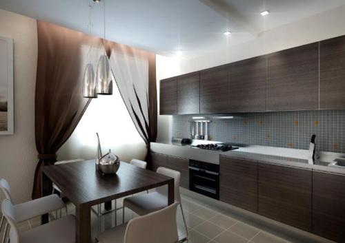 Дизайн натяжных потолков для кухни — 50 фото вариантов