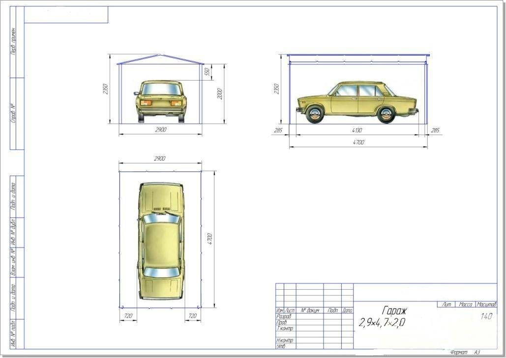 Размер гаража на 1 машину: оптимальные  параметры, минимальная стандартная ширина помещения для одного автомобиля в частном доме