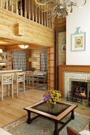 Оригинальные варианты внутреннего оформления деревянного дома