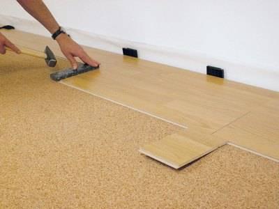 Укладка ламината на бетонный пол с применением подложки