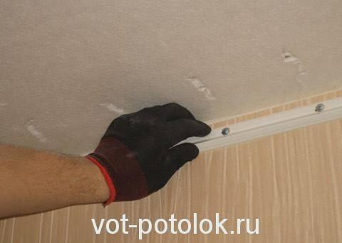 Натяжной потолок своими руками: пленочный, пвх, тканевый, установка, монтаж