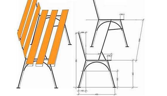 Лавочка из профильной трубы своими руками - как сварить скамейку из металла: чертежи, фото, видео