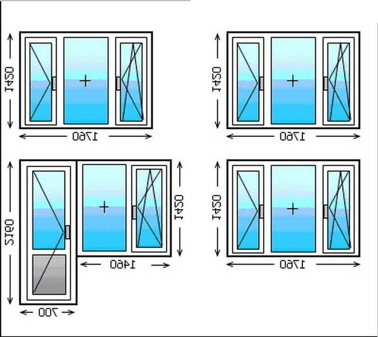 Стандартные размеры окон пвх – высота и ширина проемов пластикового окна по гост