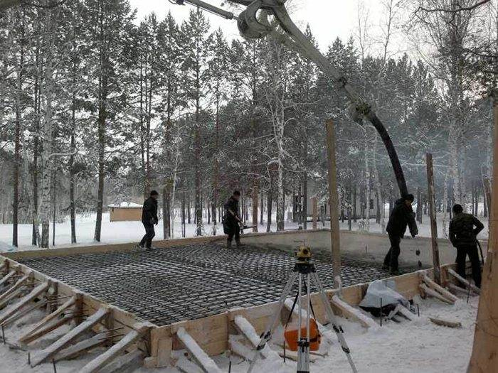 Заливка бетона при отрицательных температурах: секреты технологии зимнего бетонирования