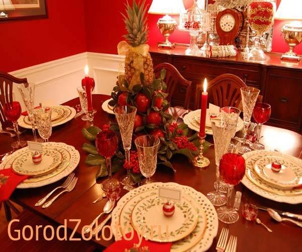 Сервировка новогоднего стола 2021 - 50 фото-идей для декора!