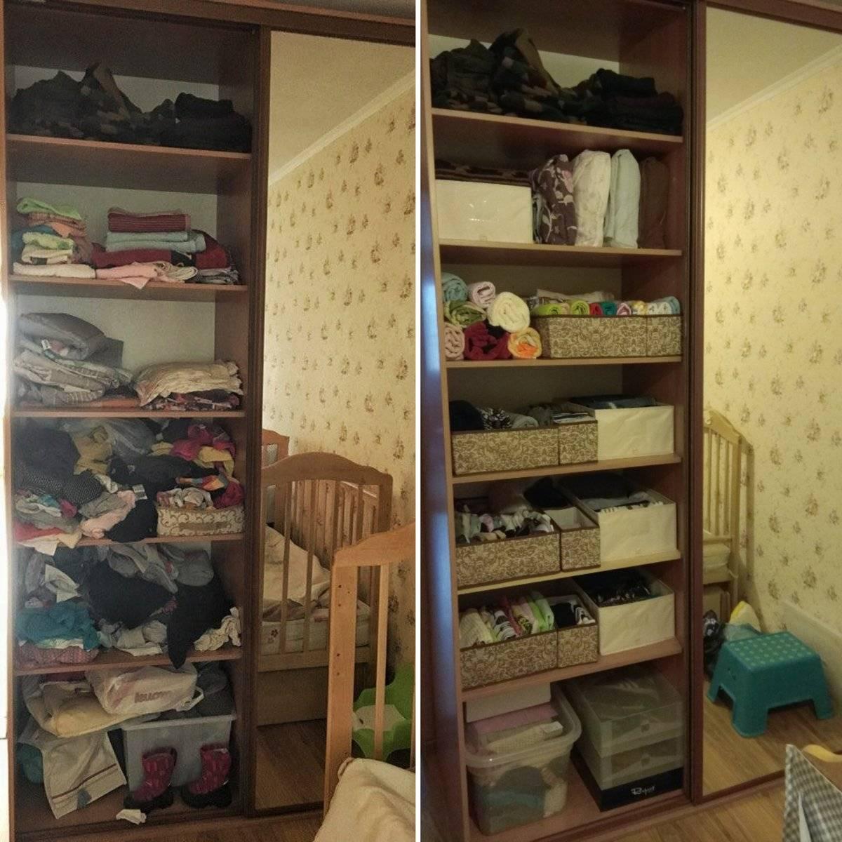 Как навести порядок в шкафу с одеждой и на кухне- лучшие идеи