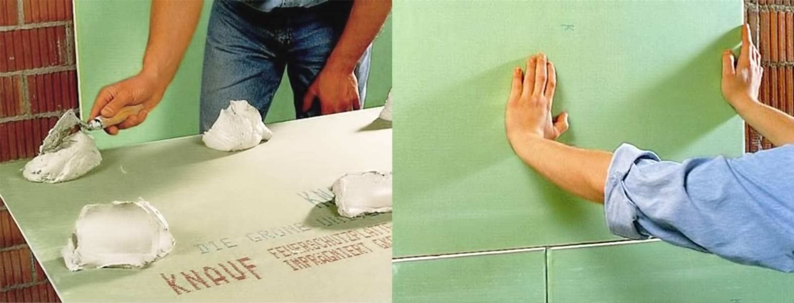 Пена-клей для гипсокартона: монтажной к стене, пеноплекс можно, видео, своими руками на поверхность откоса