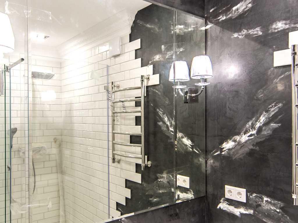 Декоративная штукатурка в ванной комнате: фото, особенности