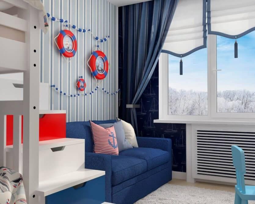 Идеи для оформления детской комнаты в морском стиле