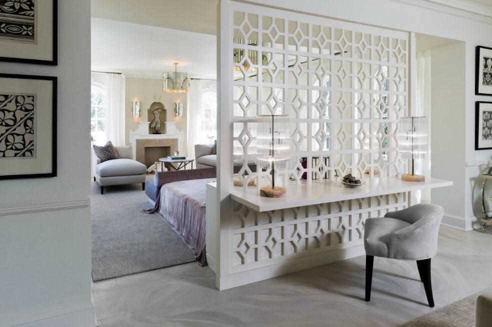 Декоративная перегородка из гипсокартона (11 фото): дизайн и расположение