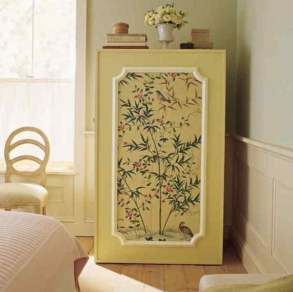 Как обклеить обоями шкаф: способы реставрации мебели