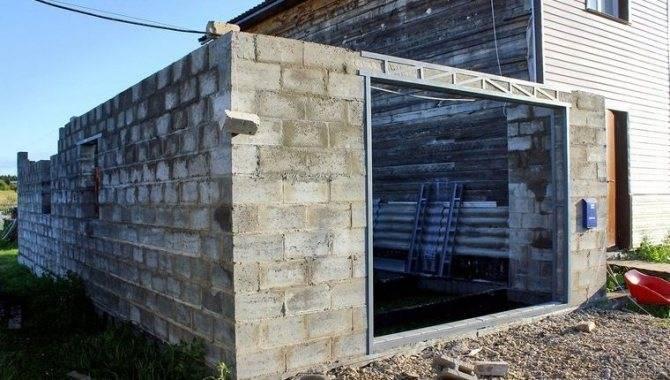 Строительство гаража из пеноблоков – все этапы (фото и видео)