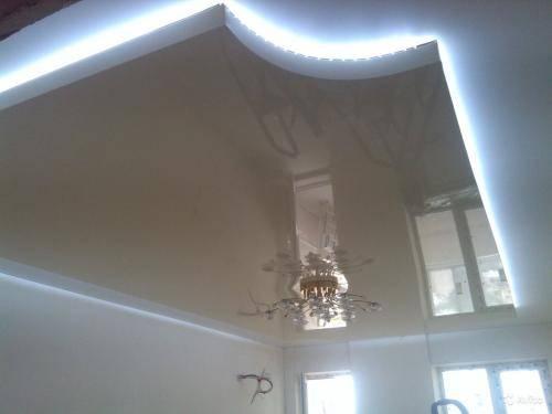 Потолок из гипсокартона  с подсветкой своими руками: все секреты и лучшие  идеи - 49 фото