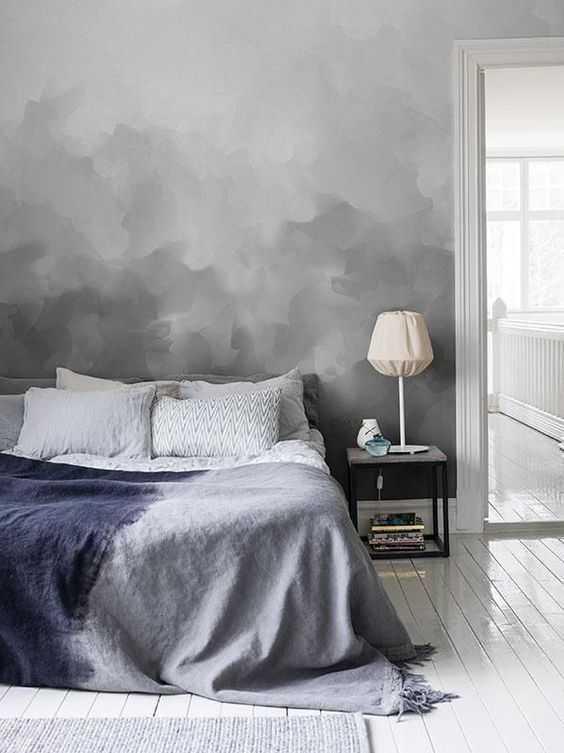 Особенности покраски стен плавным переходом