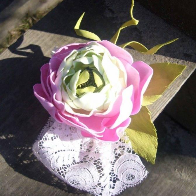Цветы из фоамирана своими руками: этапы создания на примере пиона