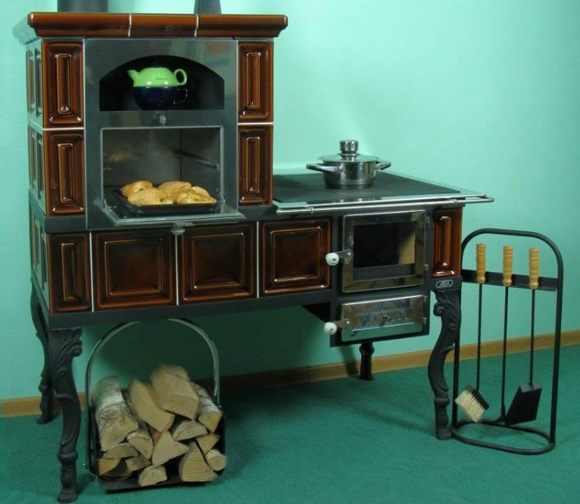 Печь камин с плитой и теплообменником: типы печей, проекты и фото