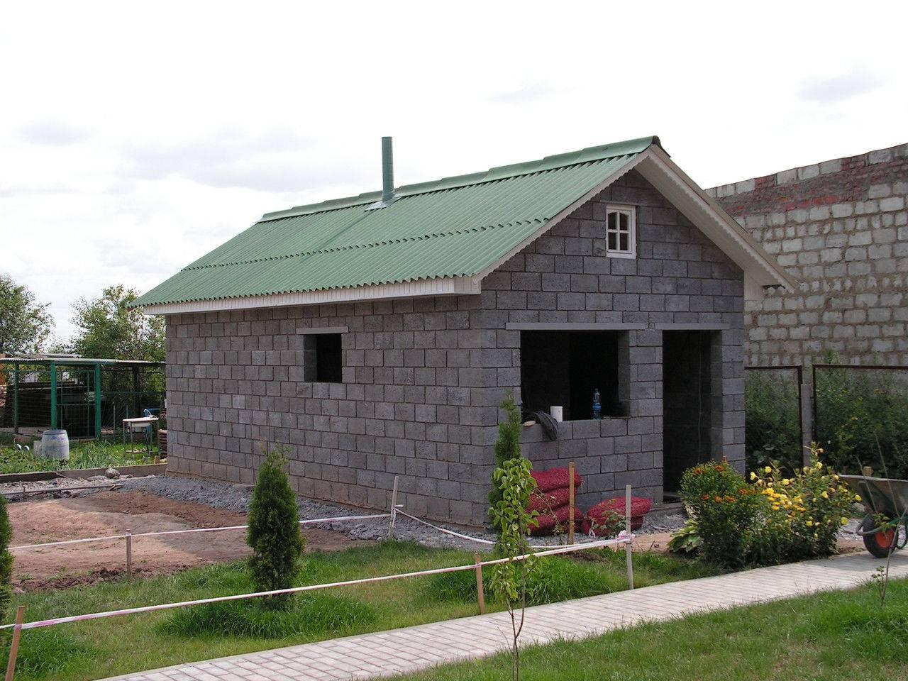Баня из керамзитобетонных блоков: плюсы и минусы, этапы строительства