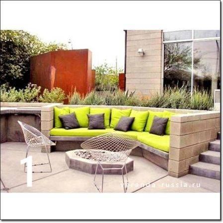 Патио на даче (53 фото): как построить зону отдыха своими руками, виды лаунж-площадок в саду, дизайн дворика