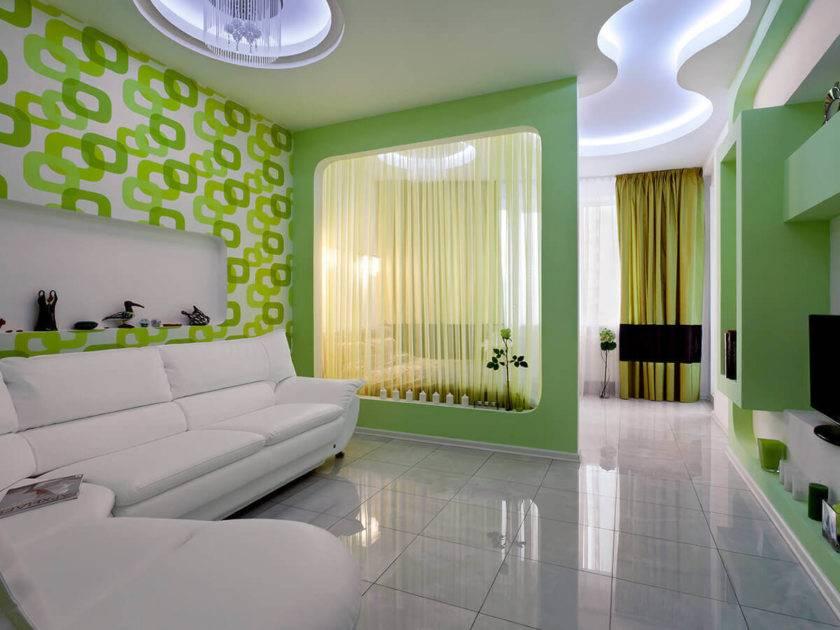 Дизайн спальни-гостиной 16 кв. м