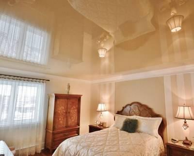 Потолки из гипсокартона в спальне [50 фото] идеи дизайна, фигуры и уровни