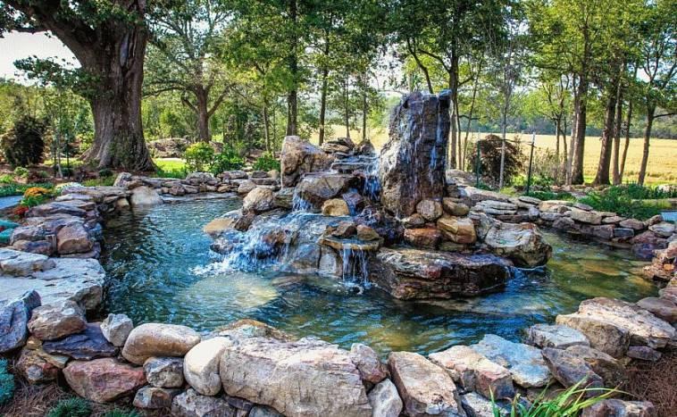 Создаем искусственный водопад на даче
