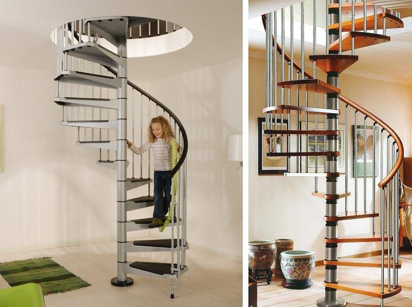 Винтовая лестница (84 фото): нюансы установки своими руками и модели эконом-класса на второй этаж в частном доме, расчёт и размеры, примеры металлической и деревянной конструкции