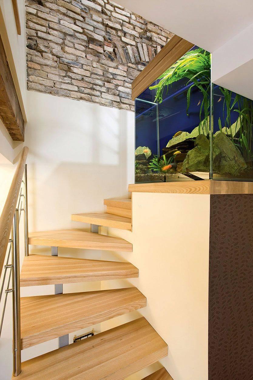 Встроенные аквариумы: в стены, в пол, в мебель. примеры интерьеров, фото
