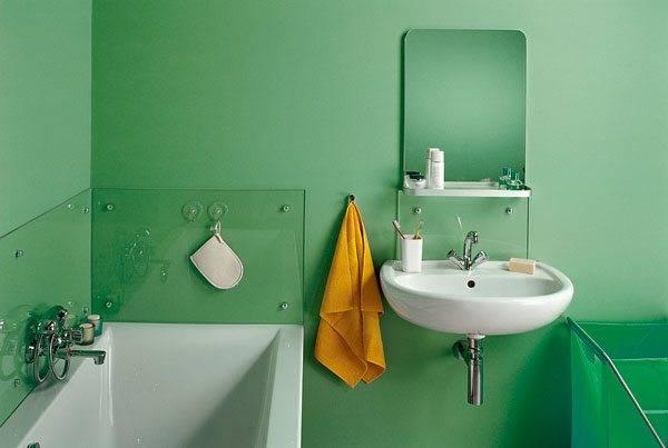 Особенности покраски стен в ванной