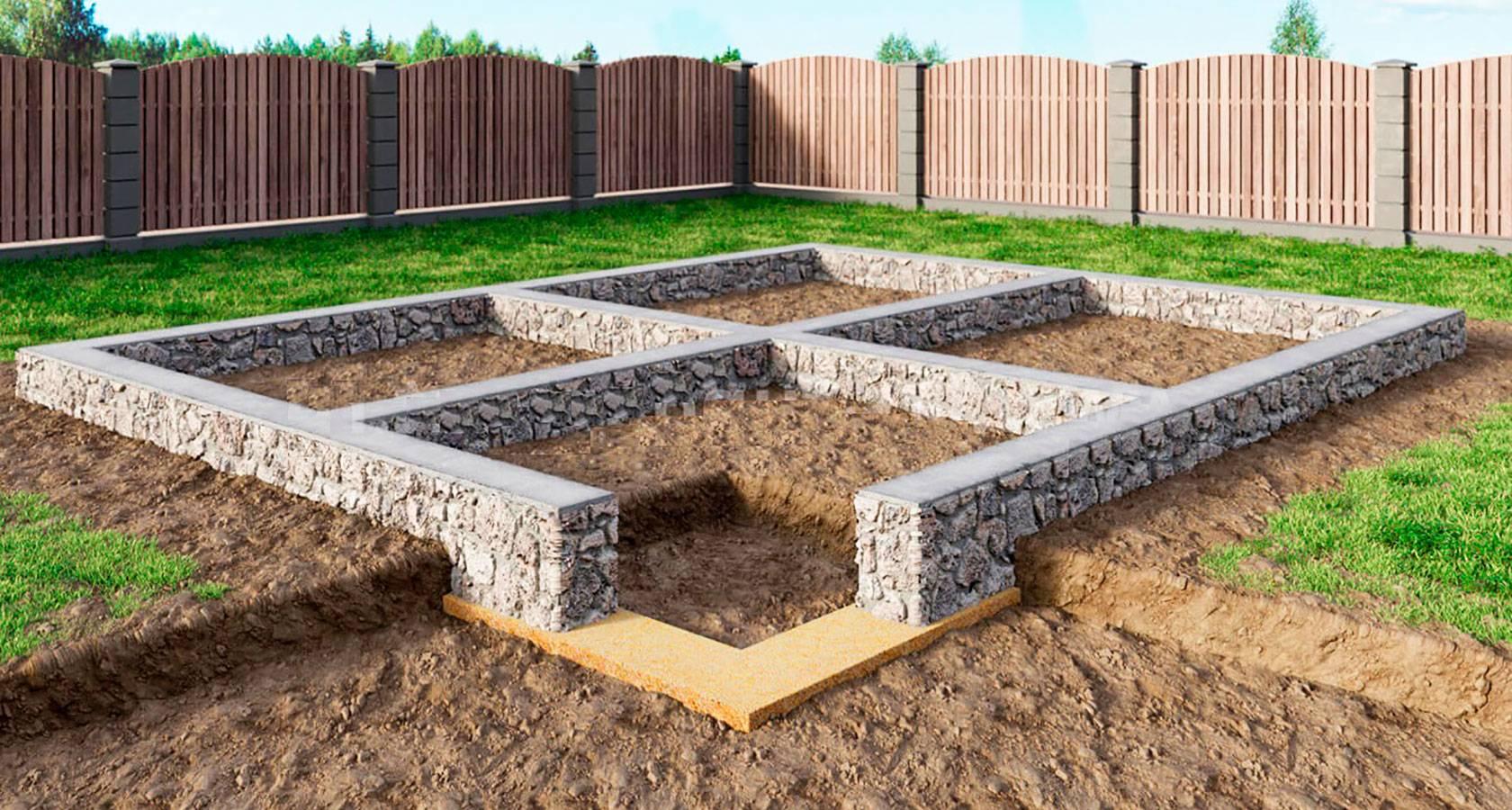 Как правильно выбрать основание, или виды фундаментов для частного дома