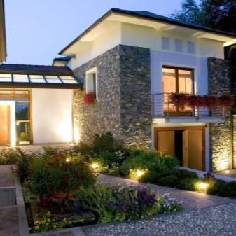 Наружное освещение зданий: правила, типы, виды подсветки