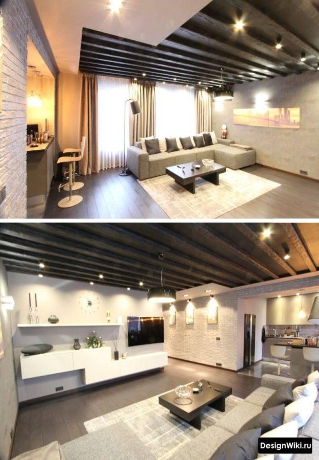 Планировка гостиной совмещенной с кухней: варианты расстановки мебели