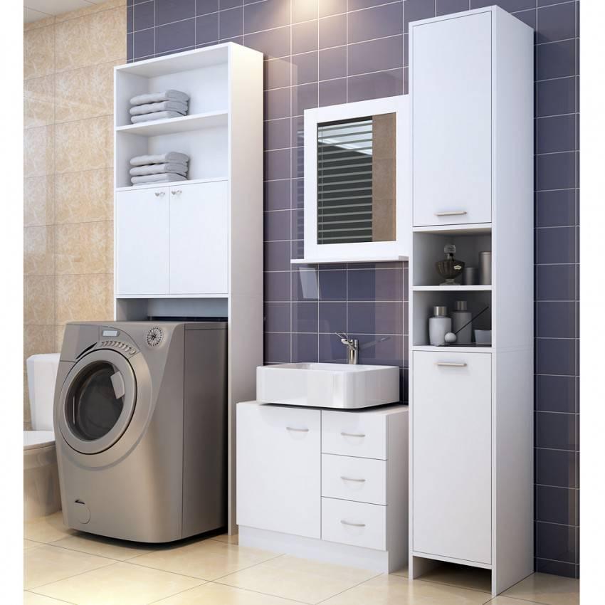 Интересный дизайн ванной состиральной машиной
