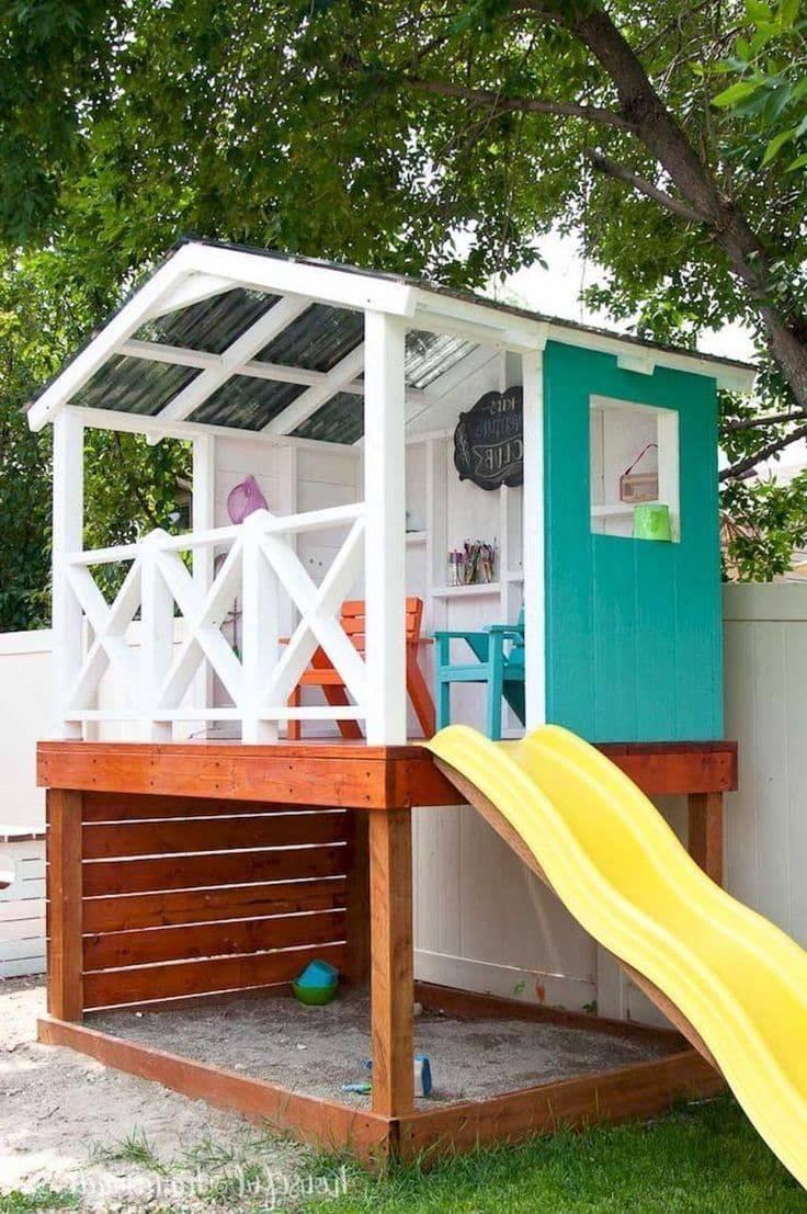 Детская площадка на даче своими руками - лучшие идеи для оформления и обустройства
