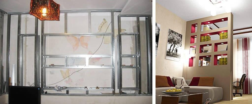 Полки из гипсокартона (51 фото): модели на стену под телевизор, как сделать своими руками угловые полочки для гостиной, варианты с подсветкой в нишу