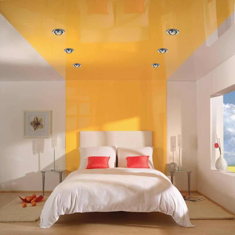 Натяжные потолки (200 фото) - дизайн потолка в зале, кухне, спальне, ванной и прихожей