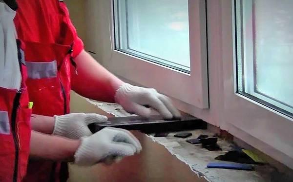 Правильная установка подоконника пвх - пвх окна, балконы, остекление, аксессуары