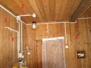Проводка в деревянном доме своими руками - этапы замены и правила прокладки новой проводки от а до я