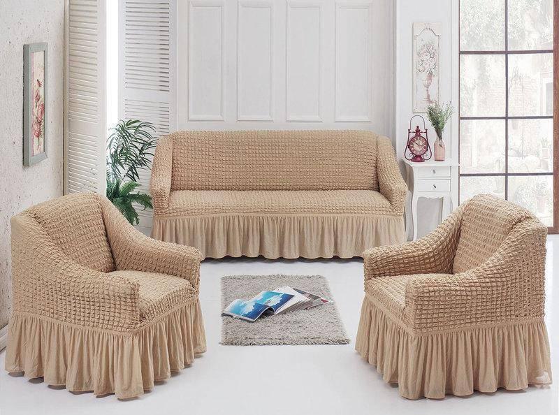 Особенности и преимущества универсальных еврочехлов для мягкой мебели, виды тканей и правила ухода