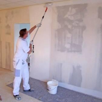 Подготовка стен под обои или покраску. подробный план работ