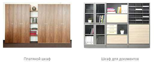 Модельный ряд офисных шкафов для документов, правила размещения мебели