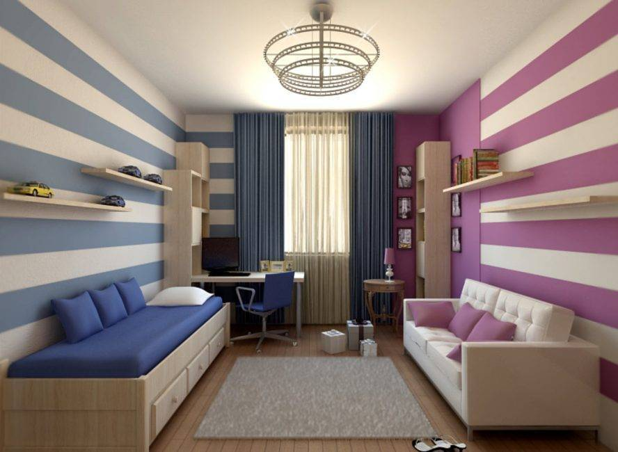 Детская спальня для двоих разнополых детей фото (61 фото): дизайн комнаты для девочки и мальчика