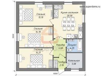 Возможности планировки дома с размерами 10 на 10: лучшие идеи зонирования пространства