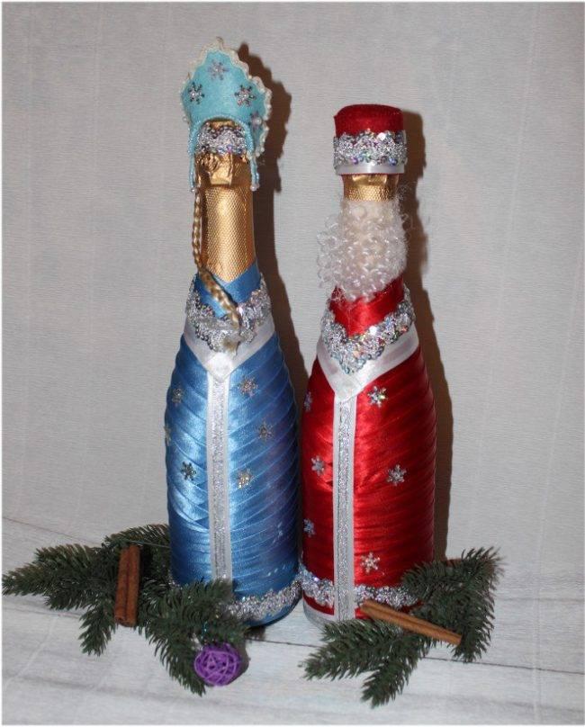 Как украсить бутылку шампанского на новый год своими руками 2018 идеи