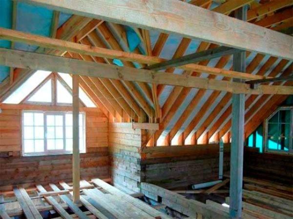 Каркасная крыша: устройство стропильной системы, расчёт и установка конструкции