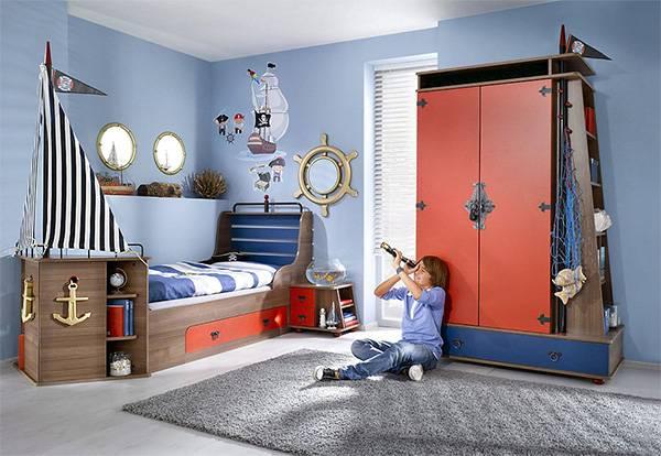 Детская в морском стиле – фото интерьеров, выбор мебели
