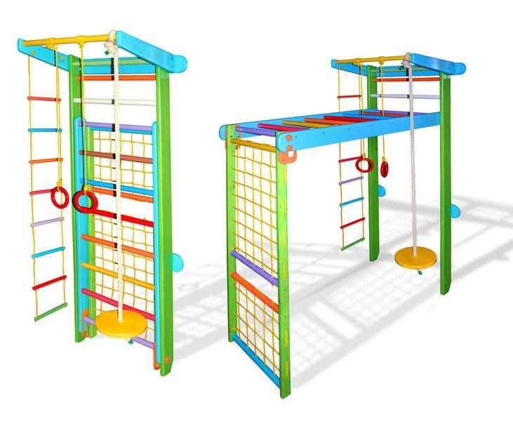 Шведская стенка для детей (96 фото): установка в квартире детской спортивной стенки с креплением к потолку, размеры стенок для малышей и взрослых детей